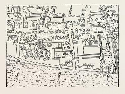 Fleet Street the Temple London from a Plan Published by Ralph Aggas 1563--Giclee Print