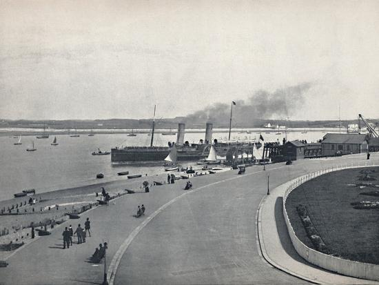 'Fleetwood - The Promenade: Departure of the Isle of Man Steamer', 1895-Unknown-Photographic Print