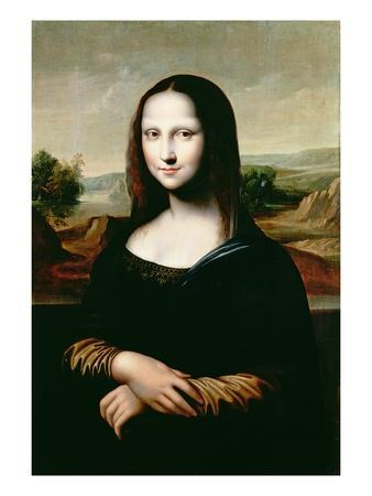 Mona Lisa, Copy of the Painting by Leonardo Da Vinci