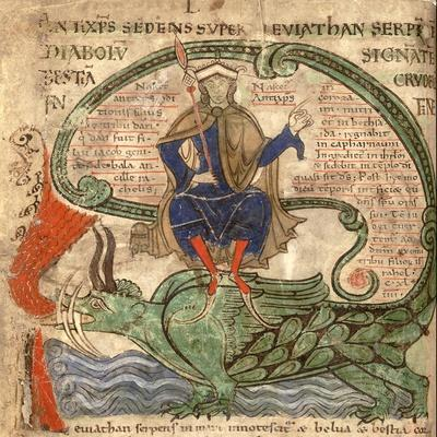 Anti Christ Seated on a Leviathan from 'Liber Floridus' by Lambert de Saint-Omer, 1120