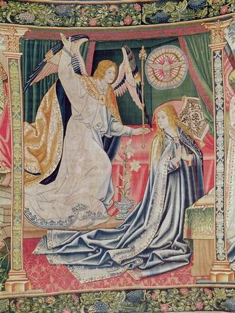 The Annunciation, Brussels Workshop, C.1510 (Tapestry)