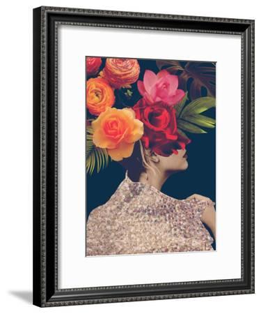 Fleur Collage II-Victoria Borges-Framed Art Print