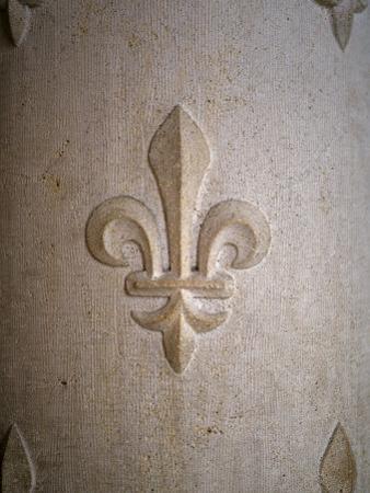 Fleur-de-lis Carved on Stone
