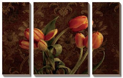 Fleur De Lis Tulips-Janel Pahl-Canvas Art Set