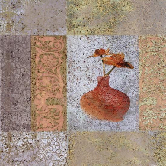 Fleur Orange II-Pierre Fortin-Art Print