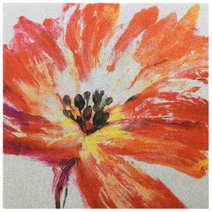 """""""Fleur Rouge I"""" High Resolution Graphic Art Print on Wrapped Canvas Wall Art"""
