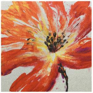 """Fleur Rouge II"" High Resolution Graphic Art Print on Wrapped Canvas Wall Art"