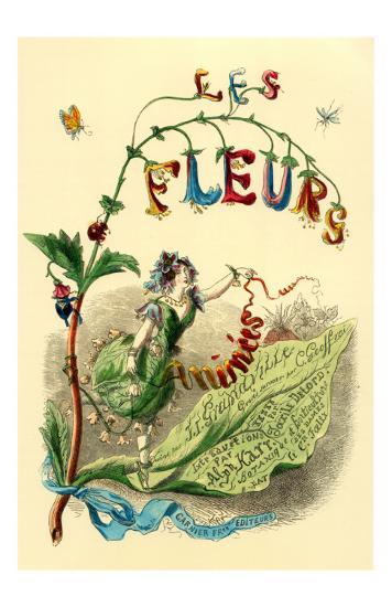 Fleurs Animees-Cover--Art Print