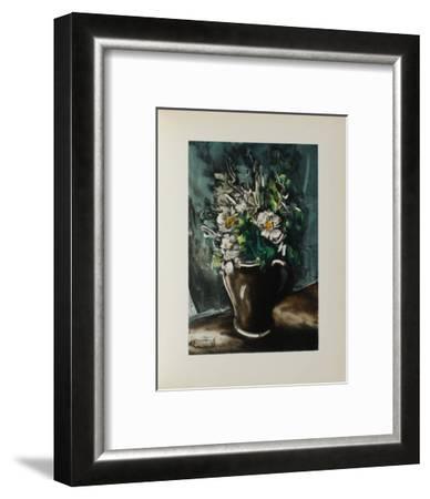 Fleurs au Pot de Gres, 1955-Maurice De Vlaminck-Framed Collectable Print