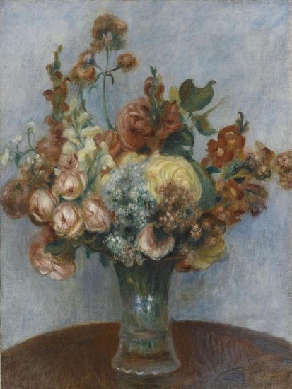 Fleurs dans un vase-Pierre-Auguste Renoir-Giclee Print
