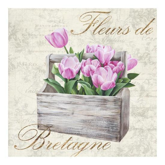 Fleurs de Bretagne-Remy Dellal-Art Print