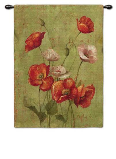 Fleurs du Rouges-Fabrice De Villeneuve-Wall Tapestry