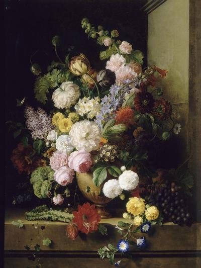 Fleurs et raisins-Antoine Chazal-Giclee Print