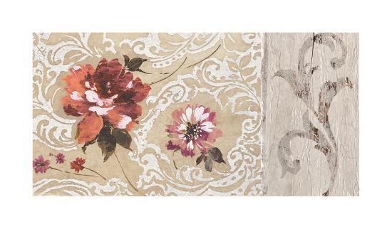 Fleurs Neoclassique II-Hélene Simon-Giclee Print