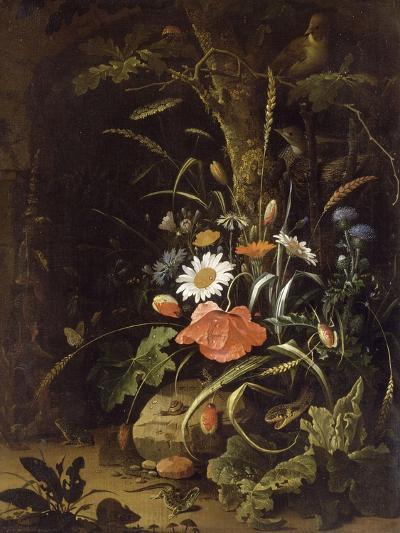 Fleurs, oiseaux, insectes et reptiles-Abraham Mignon-Giclee Print
