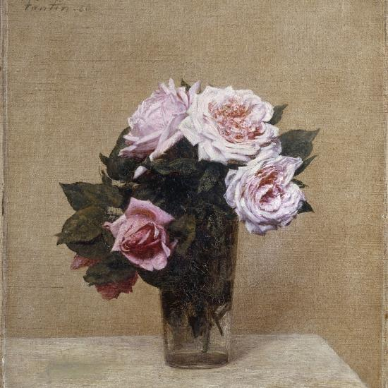 Fleurs - Roses Roses, 1886-Henri Fantin-Latour-Giclee Print