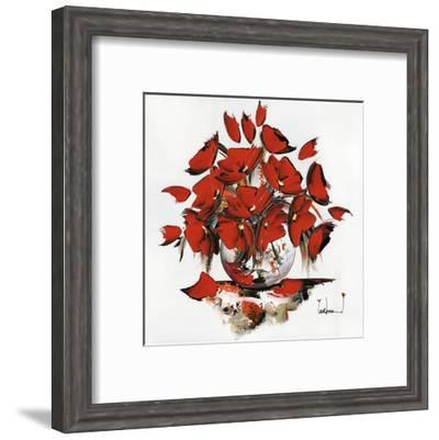 Fleurs Rouges-Christof Monnin-Framed Art Print