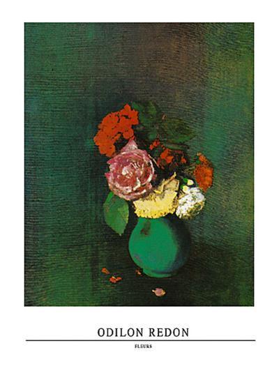 Fleurs-Odilon Redon-Art Print