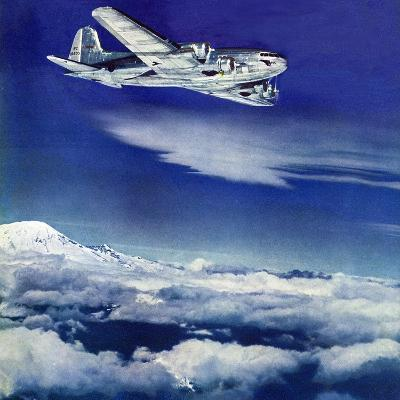 """""""Flight Above Clouds,"""" August 17, 1940-Clyde H^ Sunderland-Giclee Print"""