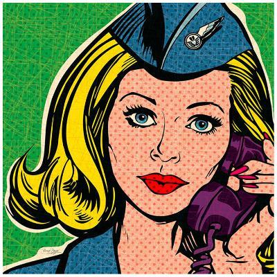Flight attendant marine-Bruno Pozzo-Art Print