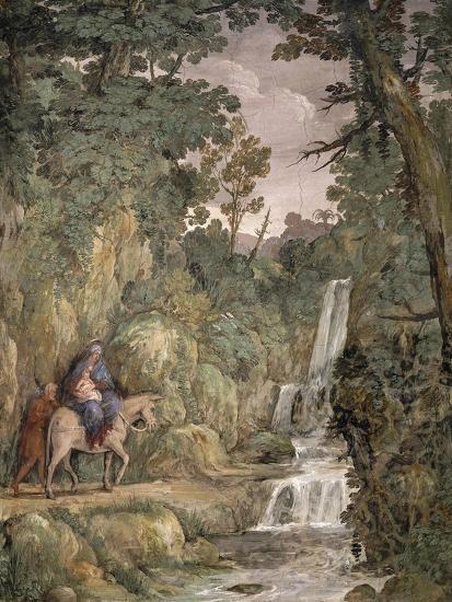 Flight into Egypt, 1621-1630-Pietro da Cortona-Giclee Print