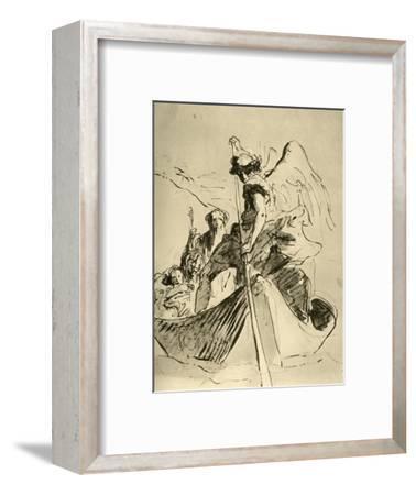 'Flight into Egypt', mid 18th century, (1928)-Giovanni Battista Tiepolo-Framed Giclee Print