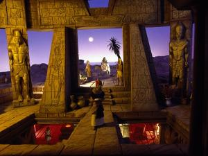 Flight into Egypt, Permanent Polyscenic Electronic Nativity Scene, Messina, Italy