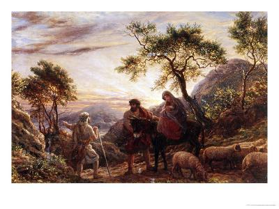 Flight Into Egypt-James Thomas Linnell-Giclee Print