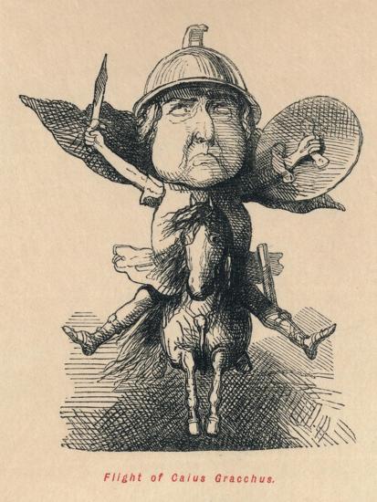 'Flight of Gaius Gracchus', 1852-John Leech-Giclee Print