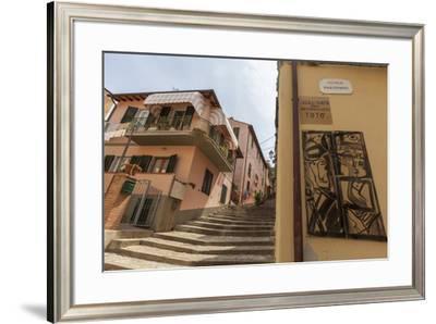Flight of steps in memory of actor Toto, Porto Azzurro, Elba Island, Livorno Province, Tuscany, Ita-Roberto Moiola-Framed Photographic Print