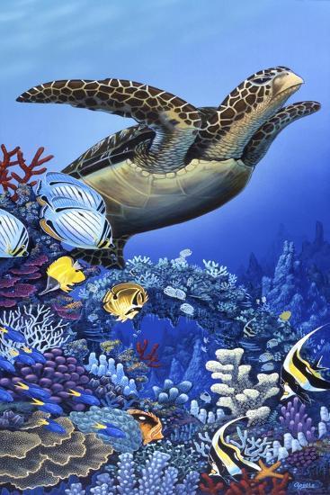 Flight of the Sea Turtle-Apollo-Giclee Print