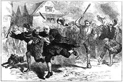 Flight of Thomas Hutchinson before the Rioters, Boston, Massachusetts, 1765--Giclee Print