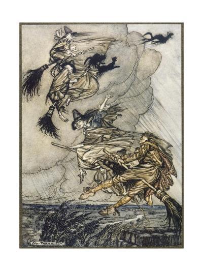 Flight of Witches-Arthur Rackham-Giclee Print