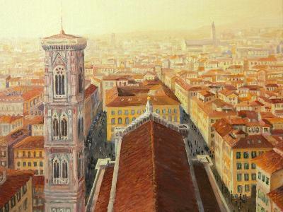 Flight Over Florence-kirilstanchev-Art Print