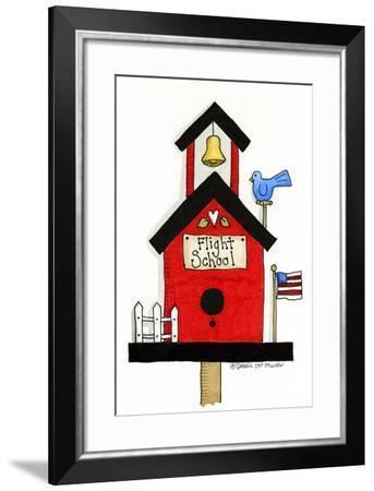 Flight School Birdhouse-Debbie McMaster-Framed Giclee Print