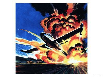 Flight Through an Inferno-Wilf Hardy-Giclee Print