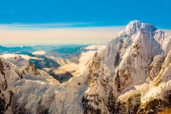 Flightseeing through peaks of Mt. Denali and the Alaskan mountain range, Alaska, USA, North America-Laura Grier-Photographic Print