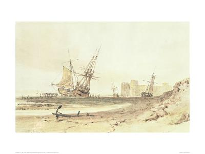 Flint Castle-J^ M^ W^ Turner-Giclee Print