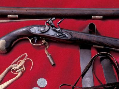 Flintlock Pistol to Be Traded at a Mountain-Man Rendezvous Reenactment, Fort Mandan, North Dakota--Photographic Print