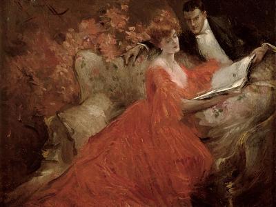 Flirtation, 1910-Reginald Pannett-Giclee Print