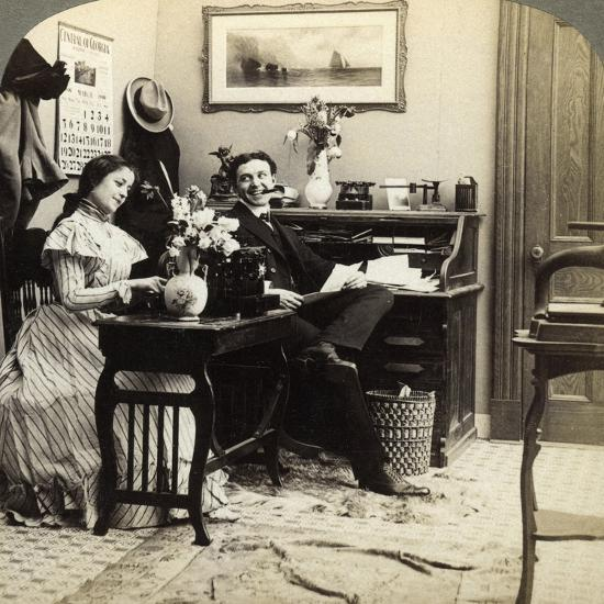Flirtation-Underwood & Underwood-Photographic Print