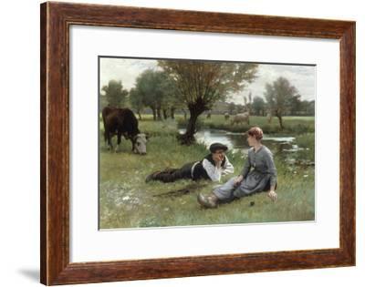 Flirting, 1896-Edouard Debat-Ponson-Framed Giclee Print