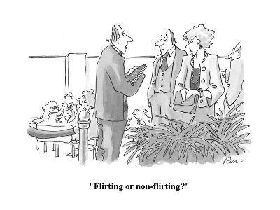 """Flirting or non-flirting?"" - Cartoon-J.P. Rini-Premium Giclee Print"