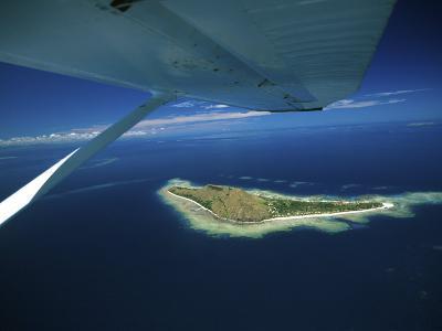 Float over Vomo Island, Fiji-David Wall-Photographic Print