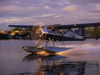 Float Plane Landing, AK-Jim Oltersdorf-Photographic Print
