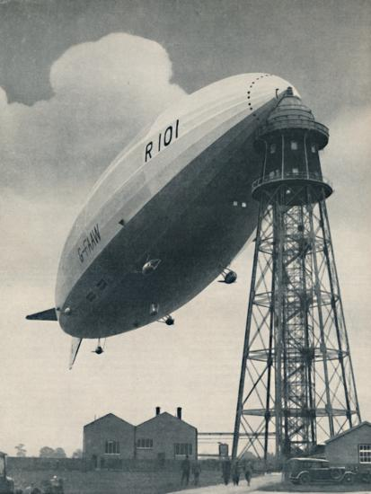 'Floating at the Mast Head, A Mighty Envelope of Invisible Power', c1935-Unknown-Photographic Print