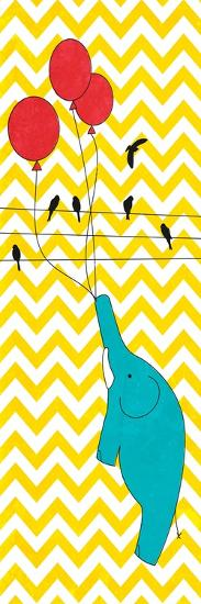 Floating Elephant--Premium Giclee Print