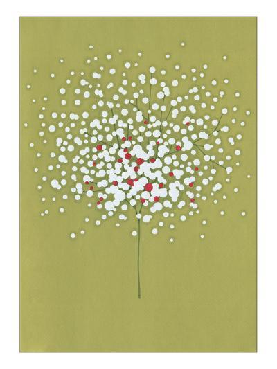 Floating Floral with Berries-Takashi Sakai-Giclee Print