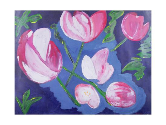Floating Flowers--Giclee Print
