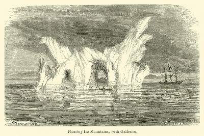 Floating Ice Mountains, with Galleries--Giclee Print